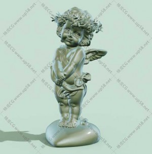C4D小天使3D模型