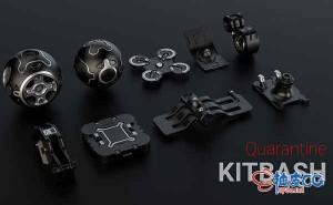 C4D检疫Kitbash 2020高科技组件模型集