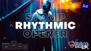 AE模板 公司商业时尚创意促销片头视频 Rhythmic Opener
