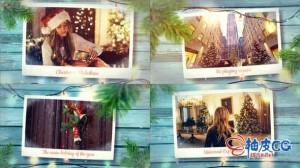 AE模板 圣诞节冬天浪漫雪景祝福史诗幻灯照片演示 Videohive Christmas Memory Photo Slideshow