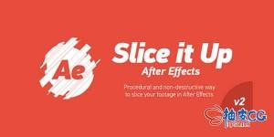 AE脚本 - 随机切片动画脚本 Slice it Up v2.1