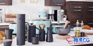 C4D / 3DSMAX / VRay / Corona碗碟炊具烹饪工具3D模型
