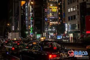 东京街区夜景赛博朋克高清图片设计素材