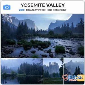 美国内华达山脉山谷平面摄影高清素材