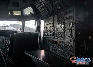 飞机驾驶舱内部细节高清图片设计素材合集