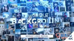 AE模板 公司商业会议3D马赛克拼图徽标展示 Mosaic Logo Reveal