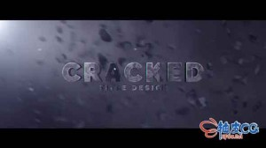 AE模板 动作电影预告片文字标题片头视频 Cracked Title Design