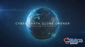 AE模板 大气抽象互联网地球数据连接平台 Cyber Earth Globe Opener