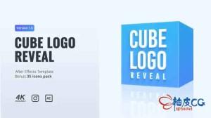 AE模板 正方体多维数据集徽标显示Cube Logo Reveal