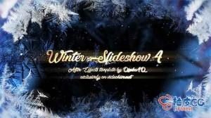 AE模板 美丽浪漫冬季婚礼幻灯展示Winter Slideshow