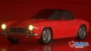 C4D OC超逼真汽车材质纹理制作视频教程