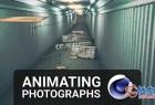Cinema 4D静态图像转3D场景创建复杂动画视频教程