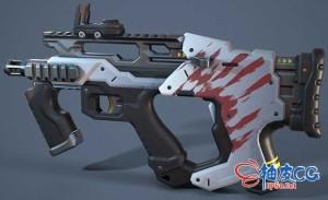 MAYA全程创建电子游戏枪3D模型视频教程