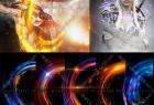 酷炫环形光效耀斑特效PNG透明免扣背景设计素材