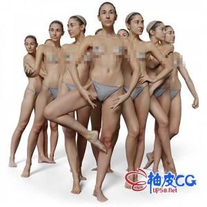 ZTL / OBJ女性人物角色精细3D模型