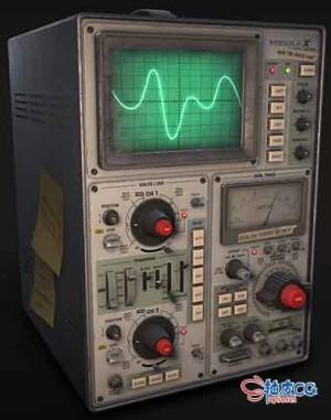 3DSMAX电子示波器的三维模型