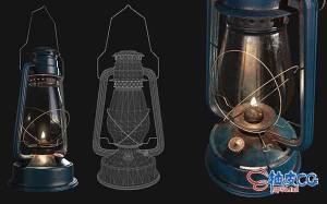 3DSMAX油灯精细3D模型