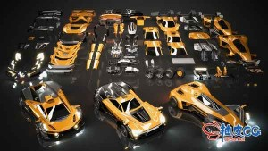 3DSMAX / Blender / C4D / Maya豪华高性能跑车3D模型