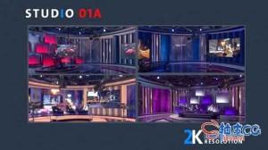 AE模板 3D虚拟广播新闻主播台Videohive STUDIO 01A