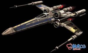 3DSMAX / FBX / OBJ 翼星际Incom-T-65-X战斗机的3D模型