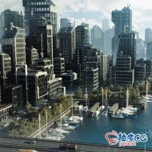 3DSMAX /Blender / C4D / Houdini / Unity / Maya / Unreal现代新型玻璃金属木质都市建筑3D模型