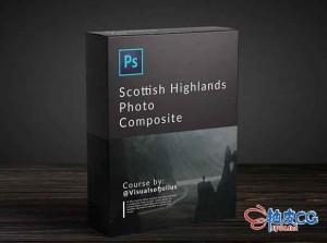 Photoshop苏格兰高地照片合成视频教程