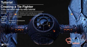 Substance Designer创建太空战斗机材质纹理视频教程