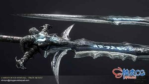 3DSMAX史诗寒霜之剑3D模型