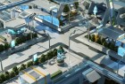 未来先进文明科幻都市街区3D模型