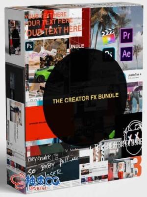 115种动画模板广告LUT创意特效素材捆绑包
