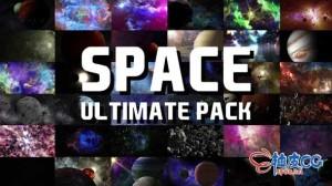 36个太空行星星球星云恒星动画视频终极素材包