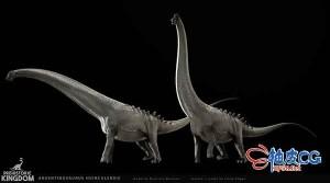 3DSMAX白垩纪Huinculensis恐龙3D模型