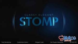 AE模板 优雅动态玻璃灵感预告片 Classy Elegant Stomp Intro