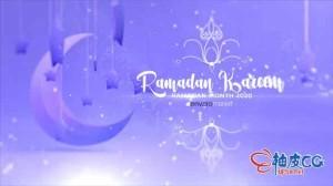 AE模板 斋月贾巴尔徽标揭幕视频 Ramadan Kareem Logo