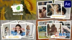 AE模板 现代时尚照片相册品牌推广片头 Photo Collection Slideshow