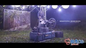 AE模板 经典复古电影放映机幻灯片头Beautiful Memories - Film Projector