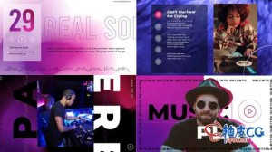 AE模板 虚拟音乐宣传可视化视频片头 Virtual music visualizer