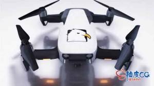 AE模板 3D无人机飞行标识LOGO揭示片头 Drone Reveal