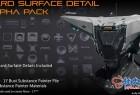 150组科幻3D模型硬表面细节Alpha贴图素材包