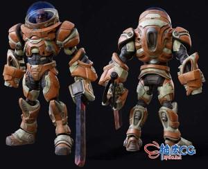 3DSMAX太空宇航员精细3D模型素材
