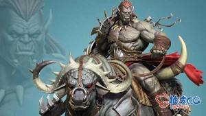 ZBrush数字雕刻兽人骑士和公牛生物全流程视频教程