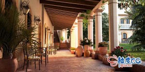 3DSMAX / VRay墨西哥庄园室外场景精细3D模型