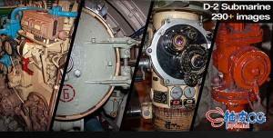 290+军事潜艇内部3D建模参考高清图