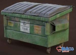 3DSMAX游戏垃圾箱3D模型