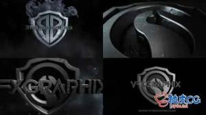AE模板 动作电影正义联盟黑白重磅预告片 Dark Shield Logo