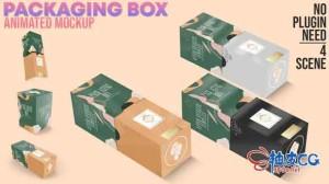 AE模板 商品包装盒样机广告3D示范视频 Packaging Box Animated Mockup