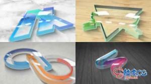 AE模板 多彩典雅有机玻璃塑料标识LOGO展示 Perspex Plastic Logo Reveal