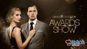 AE模板 奥斯卡电影金奖颁奖典礼视频展示预告片Golden Awards