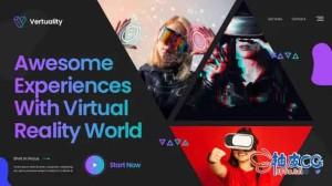 AE模板 未来派人工智能HUD全息创新虚拟现实示范 Innovation Technology Slideshow