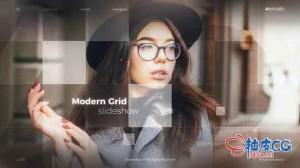 AE模板 现代公司介绍网格拼贴照片演示 Modern Grid Slideshow
